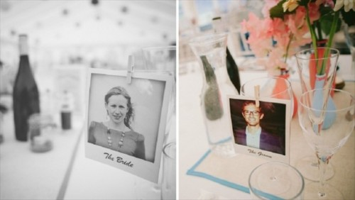 substitute usual place cards with Polaroids of your guests and you'll get a very personalized tablescape