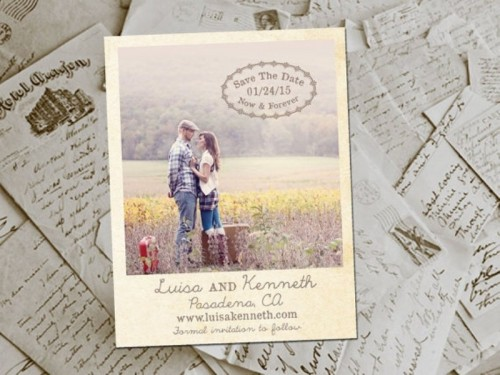 Save the Dates made of your couple's Polaroids is a very cute and personalized idea