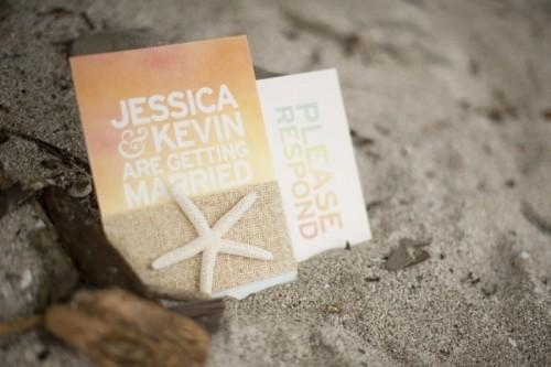 Likable Beach Wedding Invitations