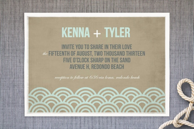Picture Of Likable Beach Wedding Invitations