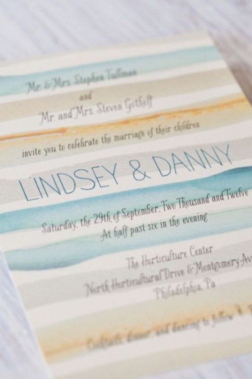 Likable Beach Wedding Invitations