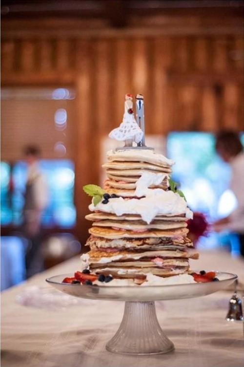 Sweet And Yummy Pancake Wedding Cakes