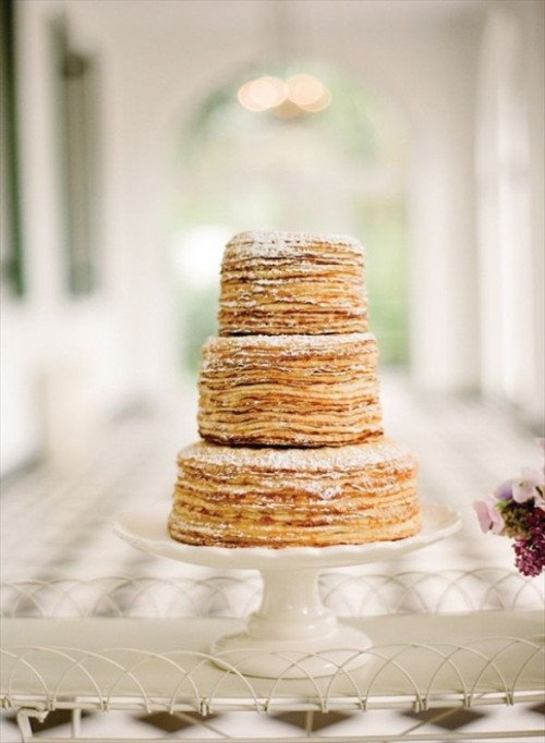 Sweet And Yummy Pancake Wedding Cakes