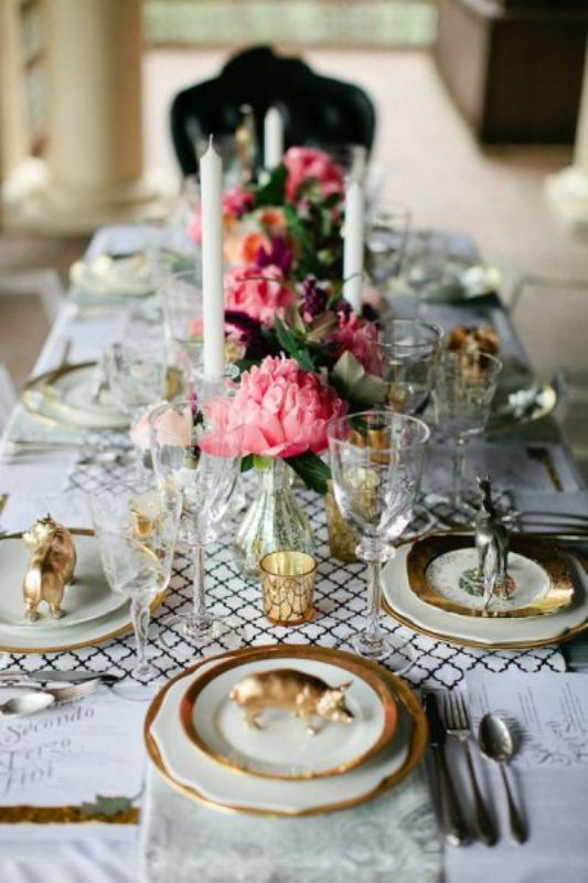 Picture Of trendy printed tablecloth wedding inspirational ideas  11