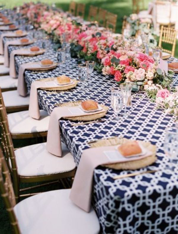 Picture Of trendy printed tablecloth wedding inspirational ideas  15