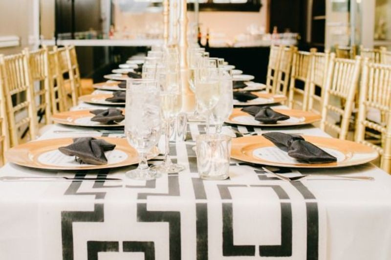 Picture Of trendy printed tablecloth wedding inspirational ideas  19