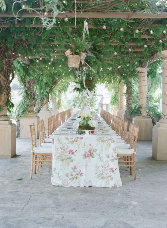 Picture Of trendy printed tablecloth wedding inspirational ideas  21