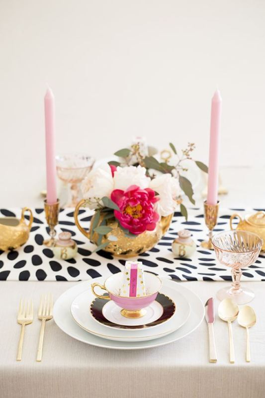Picture Of trendy printed tablecloth wedding inspirational ideas  3
