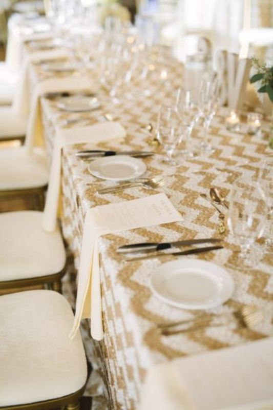 Picture Of trendy printed tablecloth wedding inspirational ideas  4