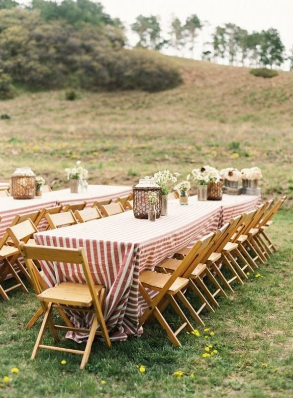 Picture Of trendy printed tablecloth wedding inspirational ideas  5