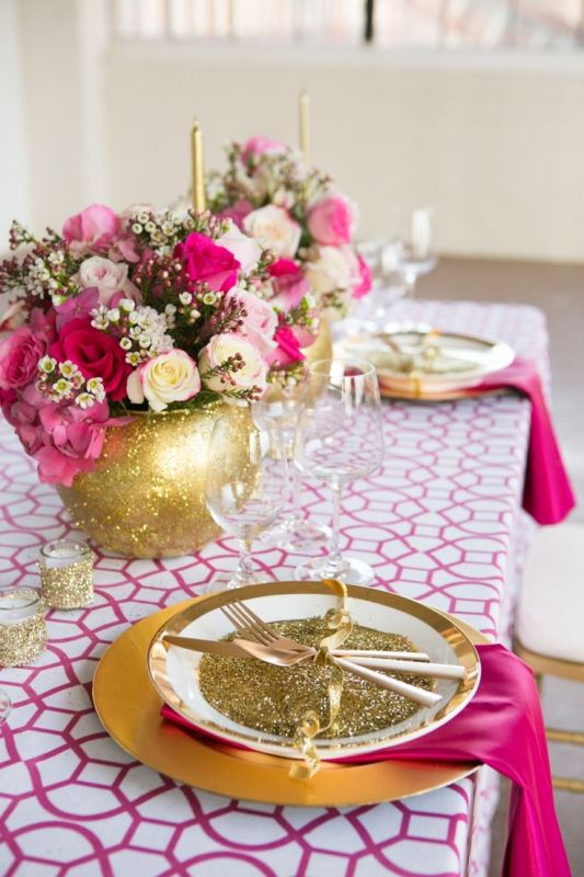 Picture Of trendy printed tablecloth wedding inspirational ideas  6