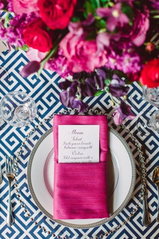 Picture Of trendy printed tablecloth wedding inspirational ideas  9