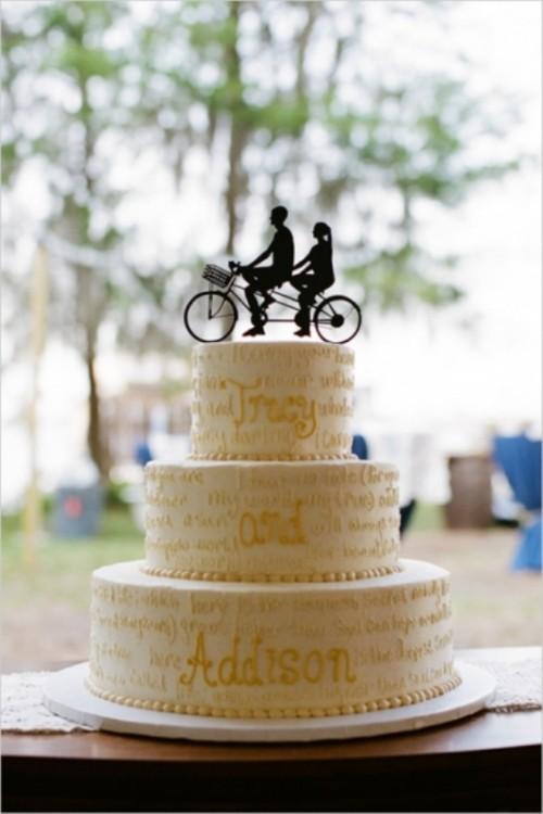 27 Adorable Silhouette Wedding Cake Toppers Ideas Weddingomania