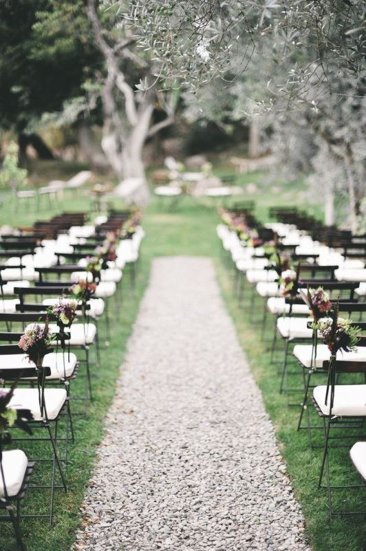 Picture of amazing backyard wedding ceremony decor ideas 20 for Backyard wedding ceremony decoration ideas