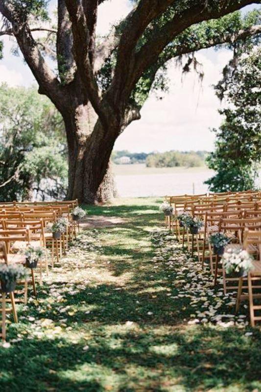 picture of amazing backyard wedding ceremony decor ideas 26