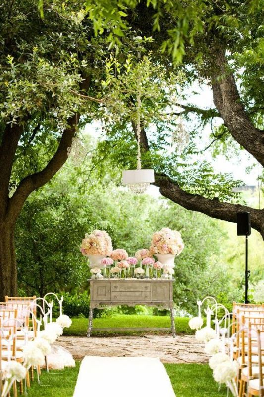 Picture of amazing backyard wedding ceremony decor ideas 9 for Backyard wedding ceremony decoration ideas