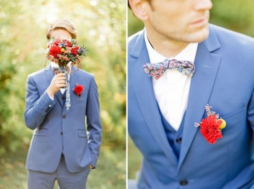 27 Bright And Colorful Groom's Suits Ideas