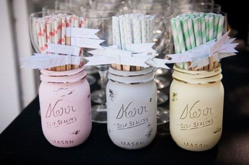 Picture of creative ways to use mason jars on your wedding day junglespirit Gallery