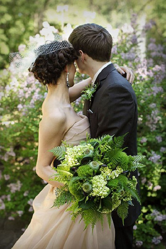 Picture Of darling greenery wedding bouquets  1