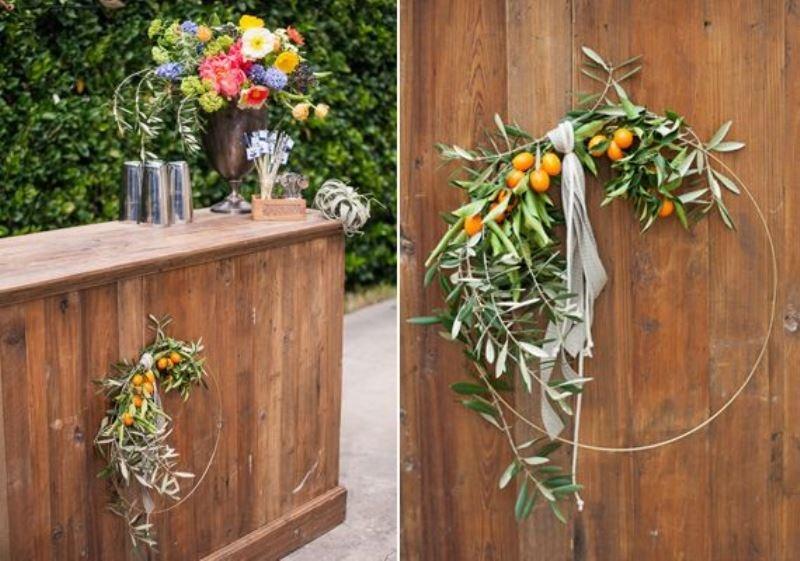 Picture Of fresh and bright kumquat wedding decor ideas  12
