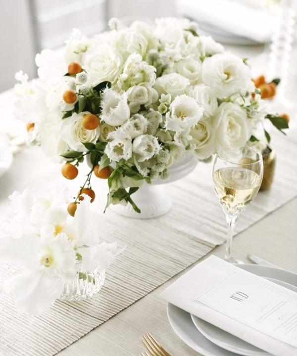 Picture Of fresh and bright kumquat wedding decor ideas  13