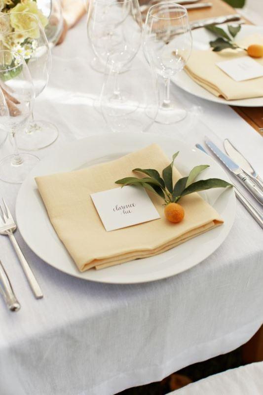 Picture Of fresh and bright kumquat wedding decor ideas  16