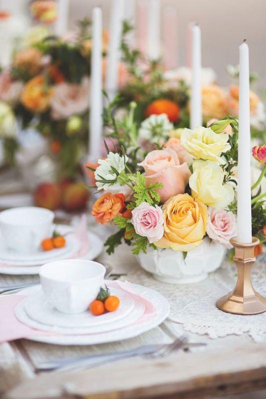 Picture Of fresh and bright kumquat wedding decor ideas  19