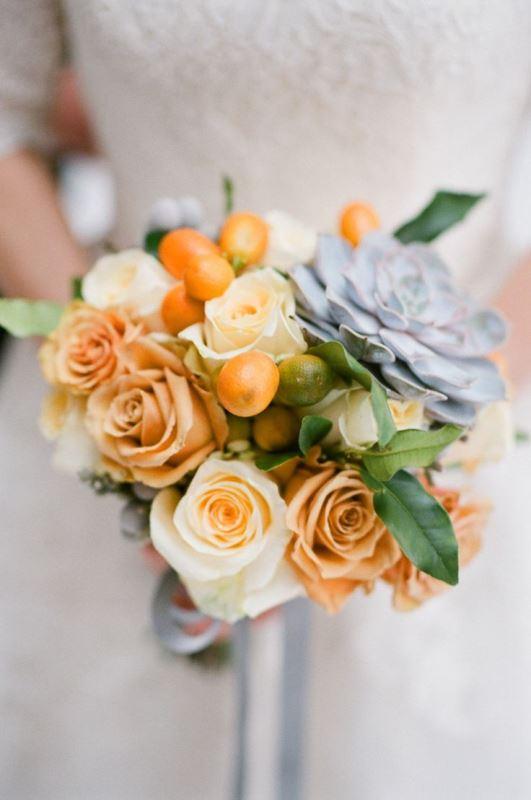 Picture Of fresh and bright kumquat wedding decor ideas  20