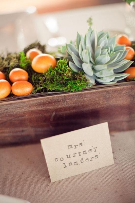 Picture Of fresh and bright kumquat wedding decor ideas  23
