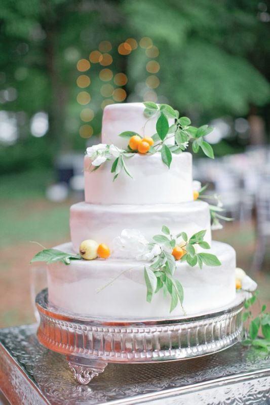 Picture Of fresh and bright kumquat wedding decor ideas  7