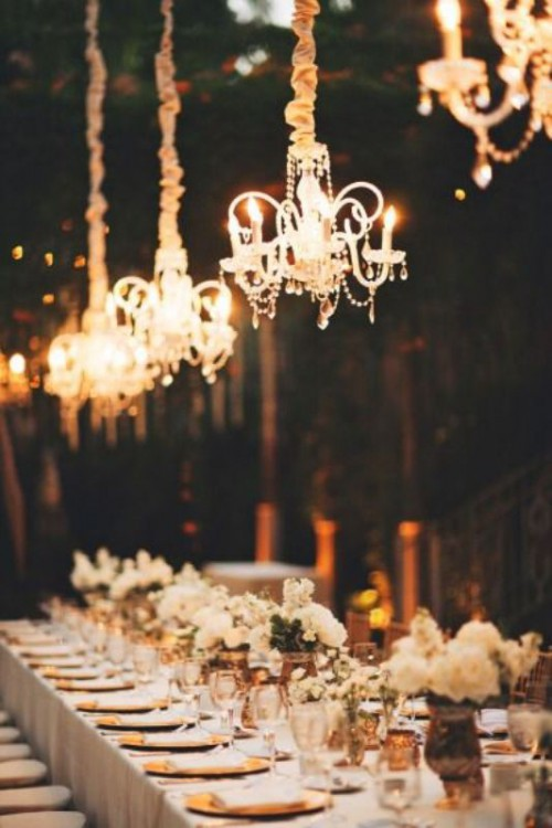 27 glamorous chandeliers wedding decor ideas weddingomania glamorous chandeliers wedding decor ideas aloadofball Images