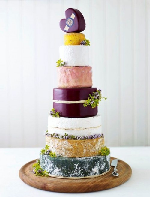 Non Traditional Cheese Wheel Wedding Cakes