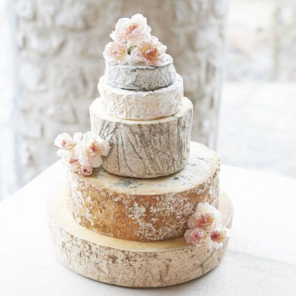 Picture Of non traditional cheese wheel wedding cakes  13