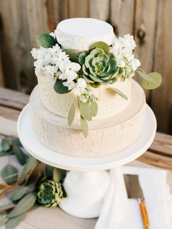 Picture Of non traditional cheese wheel wedding cakes  19