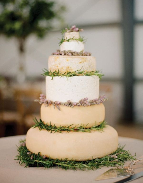 Picture Of non traditional cheese wheel wedding cakes  21