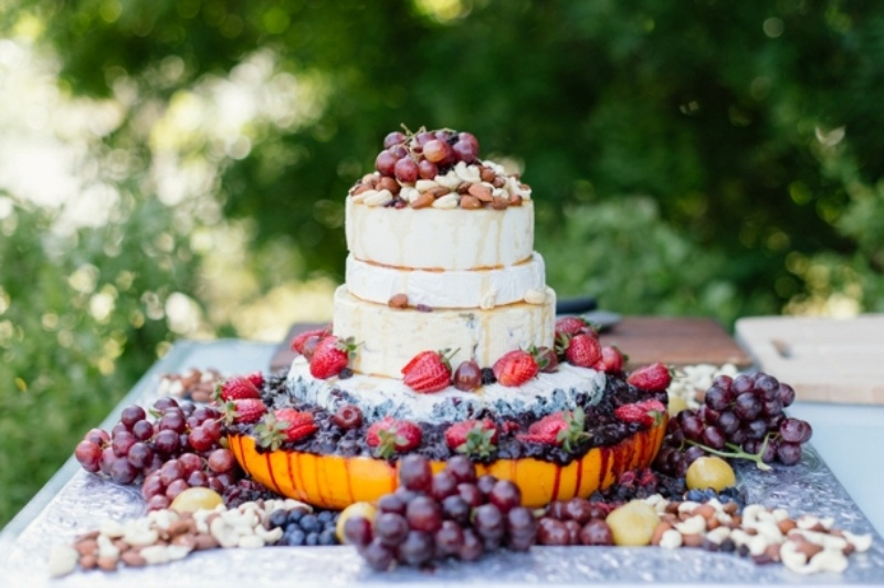 Picture Of non traditional cheese wheel wedding cakes  22