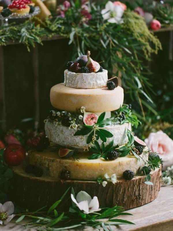 Picture Of non traditional cheese wheel wedding cakes  23