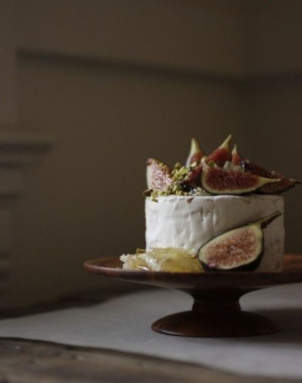 Picture Of non traditional cheese wheel wedding cakes  4