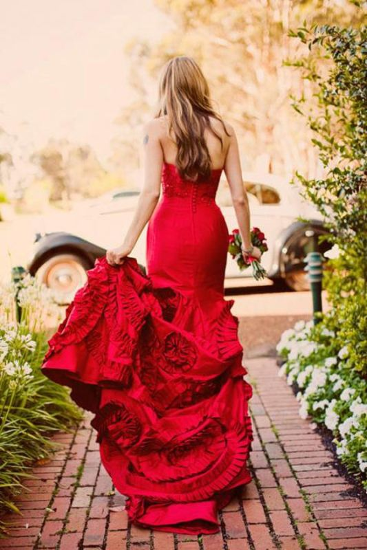 Picture Of romantic valentines day wedding dress ideas  4
