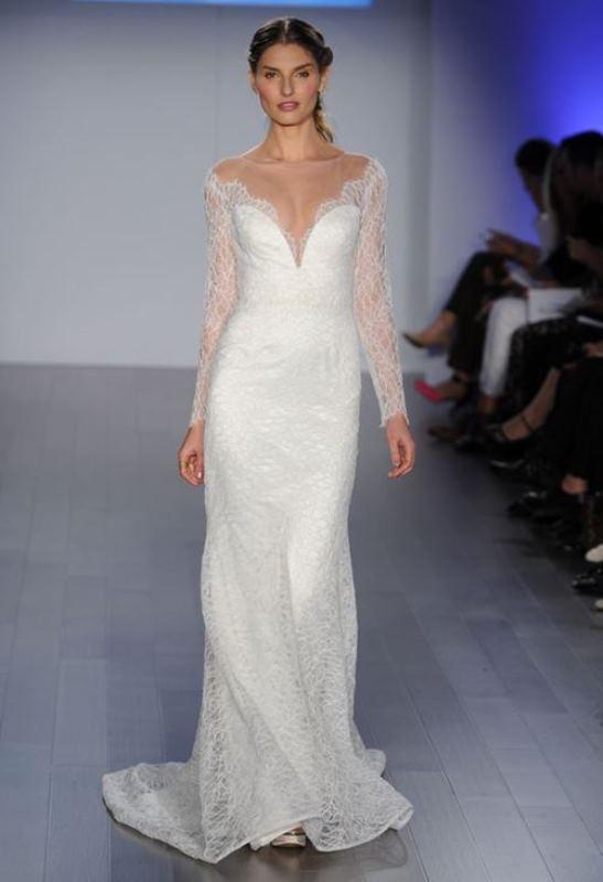Picture Of seductive and elegant plunging neckline wedding dresses 21 10fc1329e