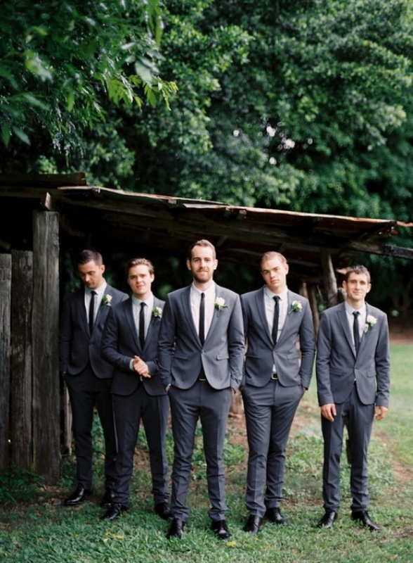 Picture Of Stylish Groom S Outfit Ideas With Skinny Ties