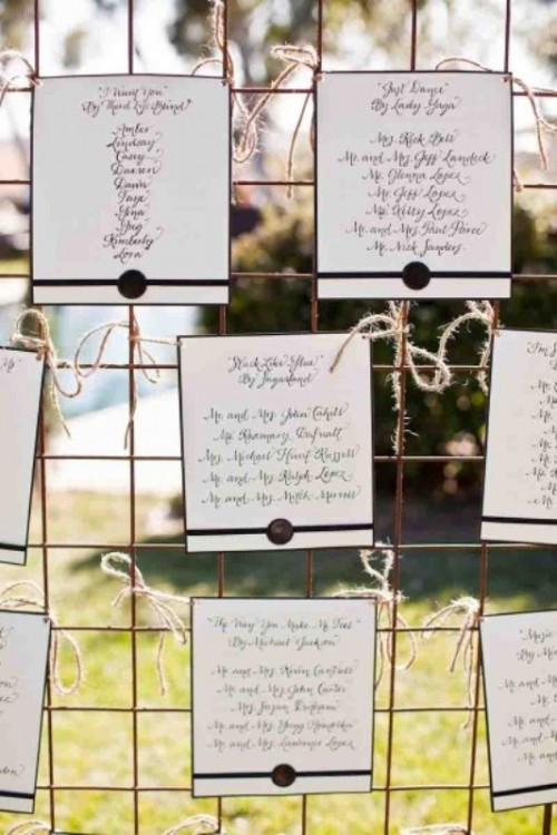 Unique Wedding Seating Charts Ideas