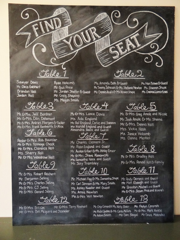 Picture of unique wedding seating charts ideas junglespirit Image collections