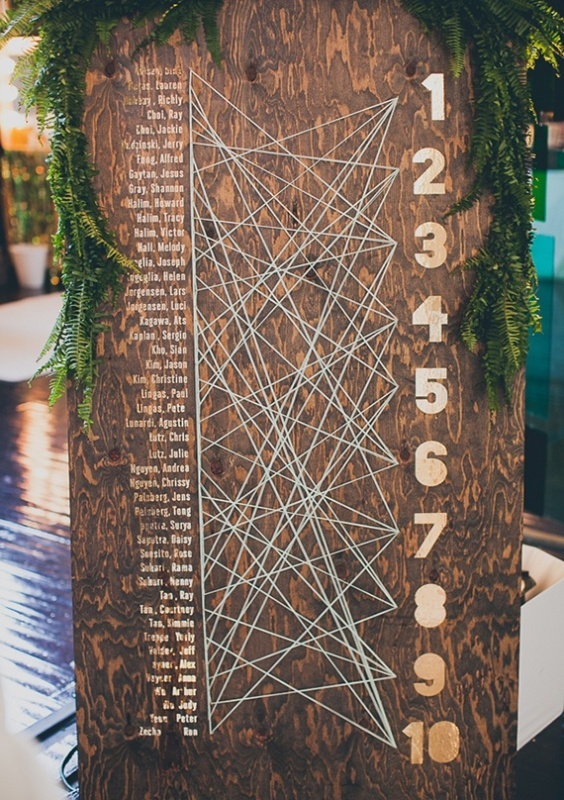 27 Unique Wedding Seating Charts Ideas - Weddingomania