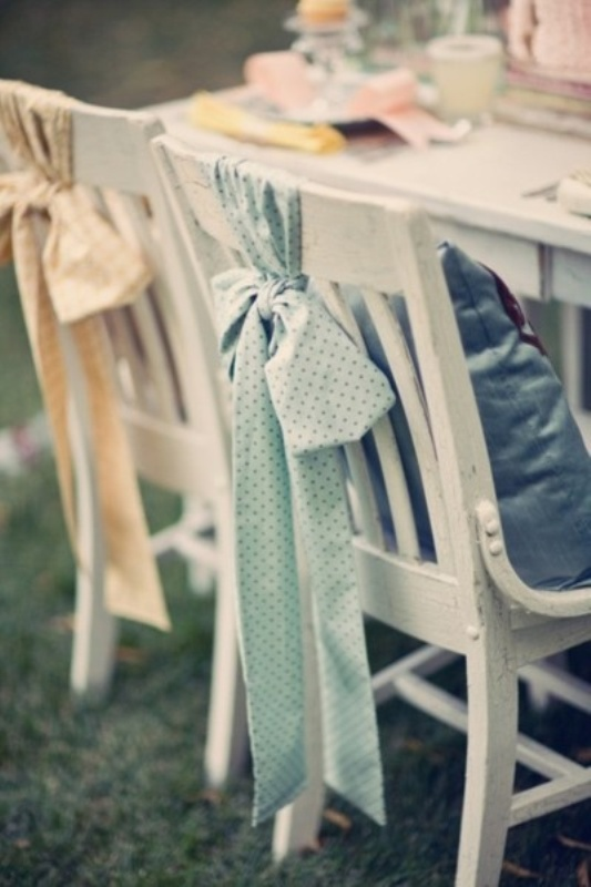 & Picture Of Chair Decor Ideas With Fabric And Ribbon