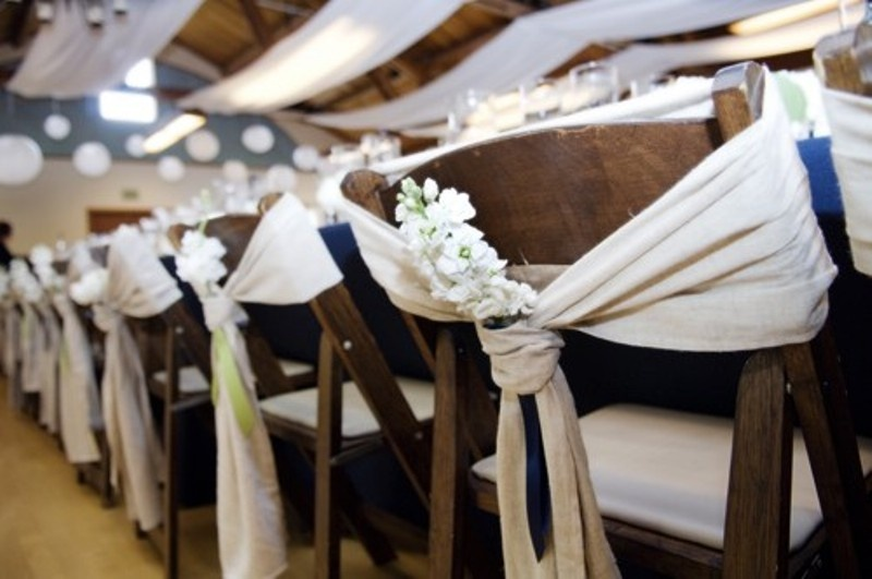 Picture Chair Decor Ideas With Fabric And Ribbon