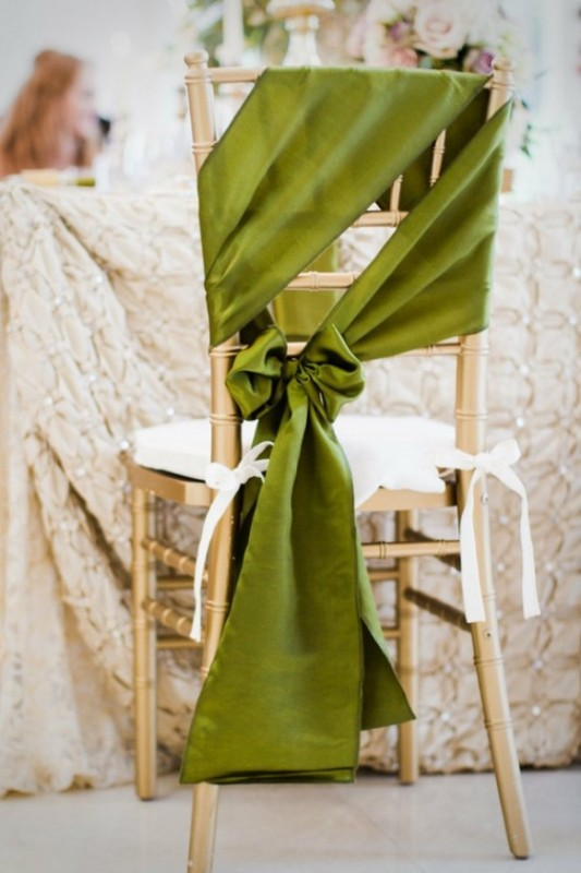 Picture Of Chair Decor Ideas With Fabric And Ribbon