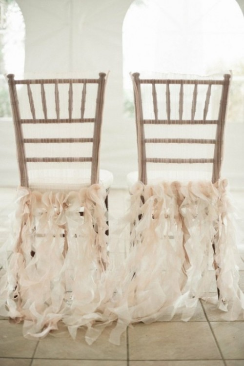 28 chair decor ideas with fabric and ribbons weddingomania chair decor ideas with fabric and ribbon junglespirit Images