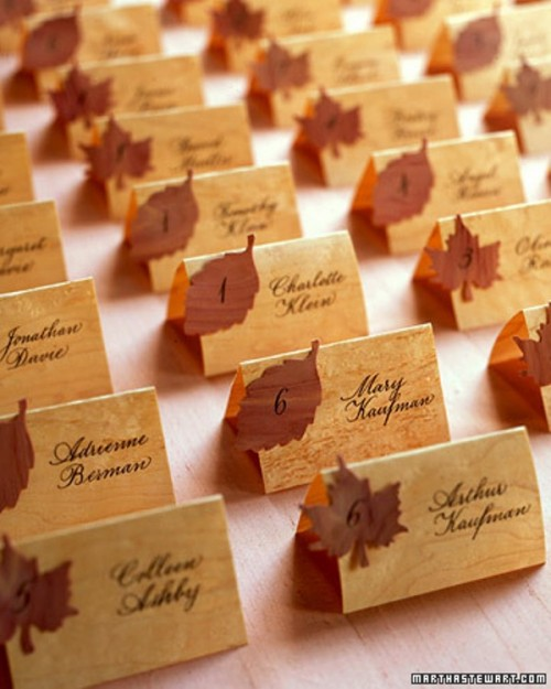 Lovely Autumn Wedding Seating Charts And Escort Cards