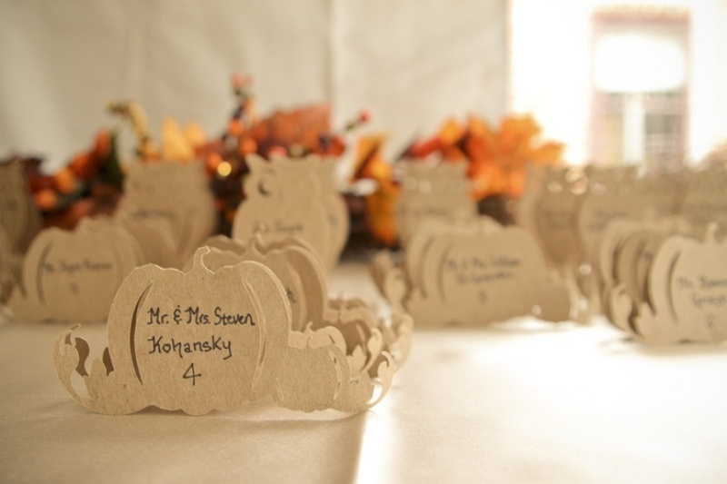 Awesome fall wedding place cards photos styles ideas Places to have a fall wedding